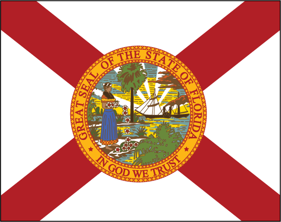 Florida free state flag clipart