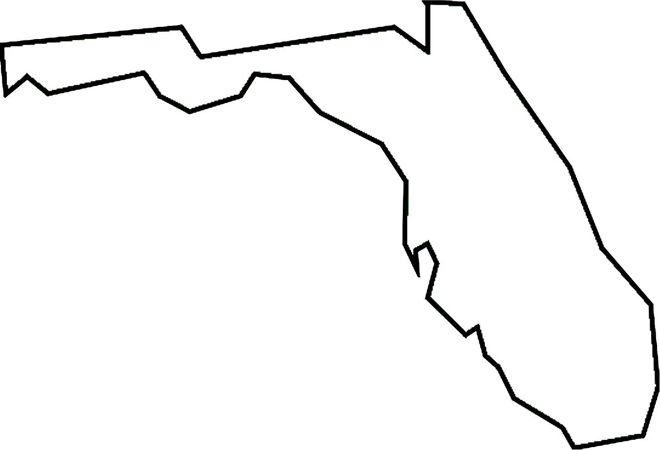 Florida outline clipart clipart