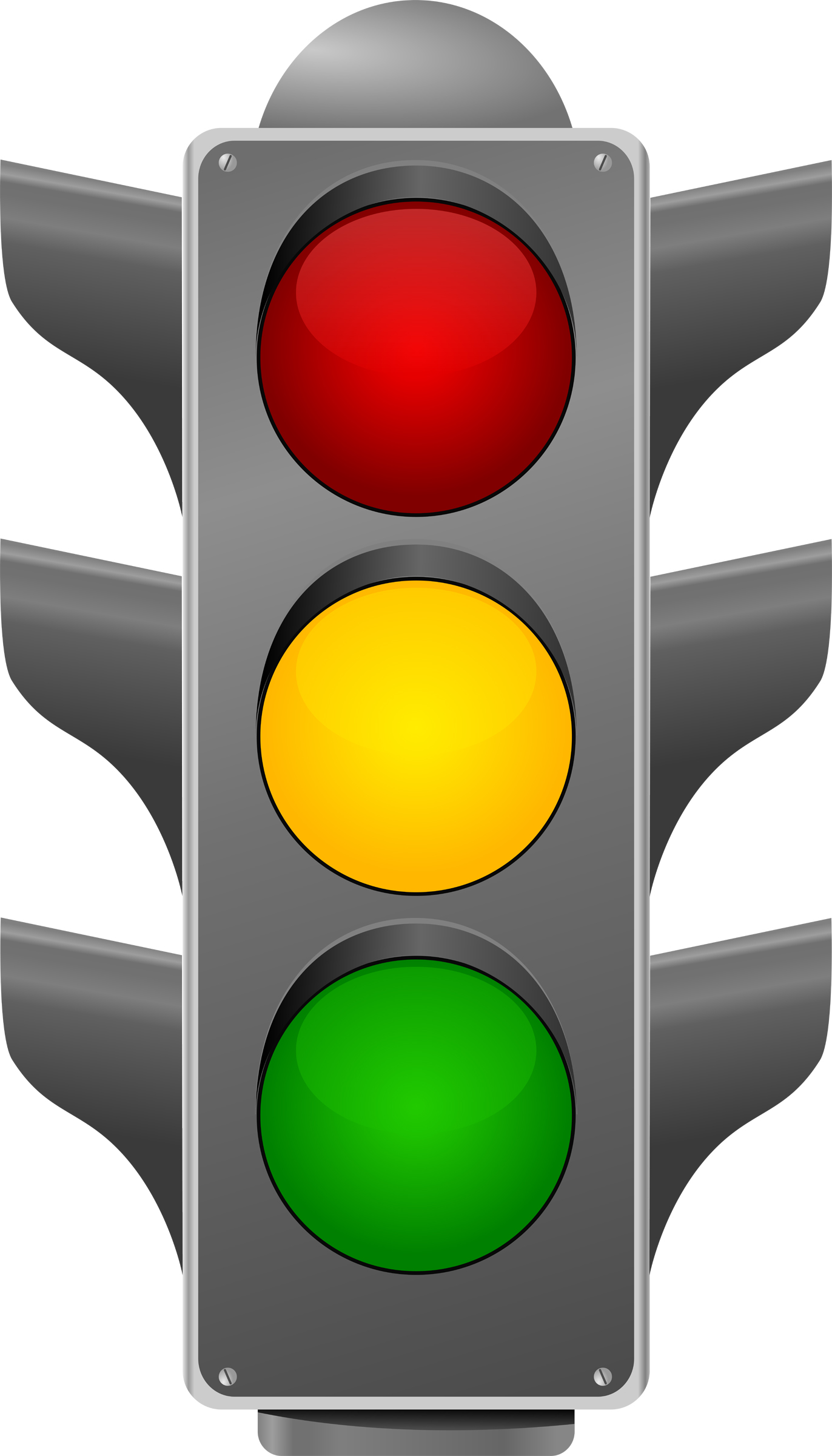 red stop light clipart image  27070