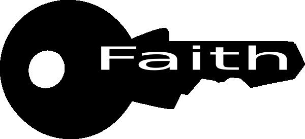 Key of faith clip art at vector clip art