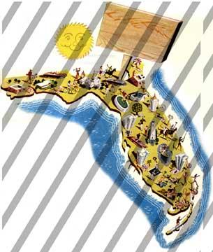 Map florida clip art image fenderskirts vintage imagery