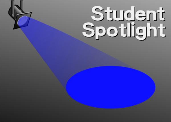 Student spotlight vector clip art
