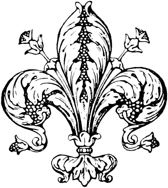 Vintage fleur de lis clip art image oh so nifty vintage graphics