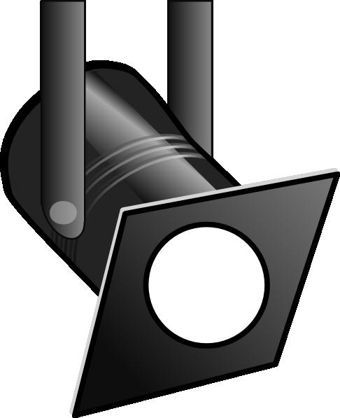 White spotlight clip art at vector clip art