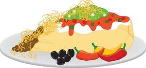 Burrito clipart image burrito plate
