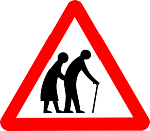 Old people clip art at vector clip art