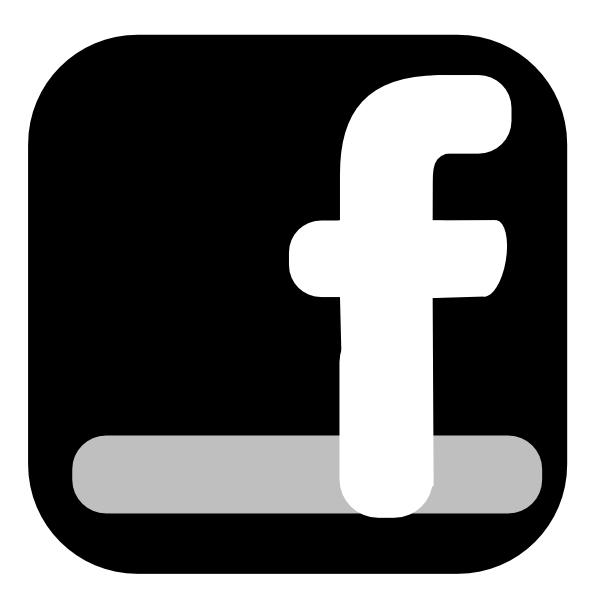 Simple facebook icon clip art at vector clip art