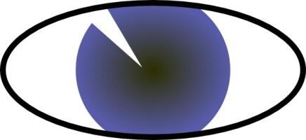 Eyeball tonlima olho azul blue eye clip art free vector in open office