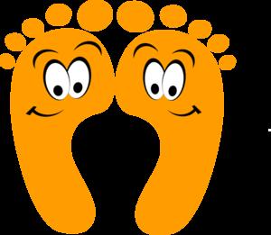 Foot orange happy feet clip art at vector clip art