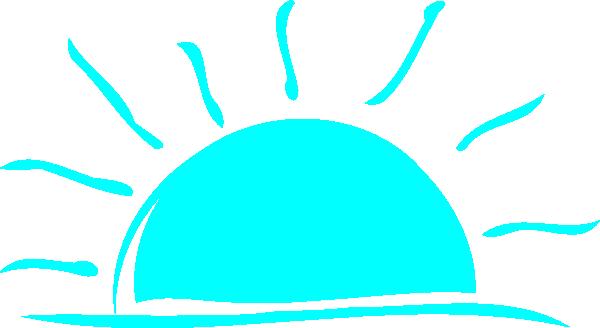 Teal sunset clip art vector clip art free