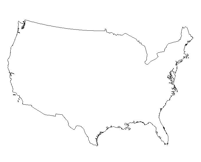 9 photos of outline drawing of united states us maps united clip