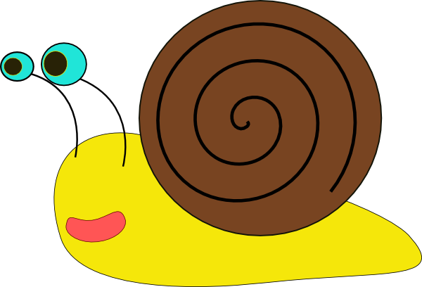 Baby snail clipart