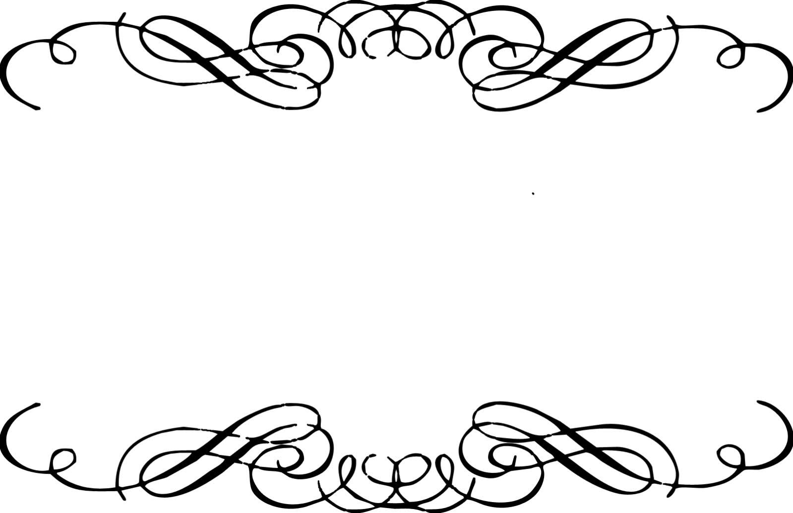 Fancy scrollwork clip art 2