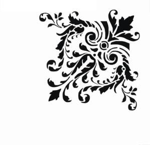 Fancy scrollwork clip art at vector clip art