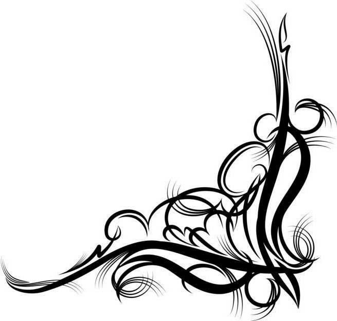 Fancy scrollwork clip art
