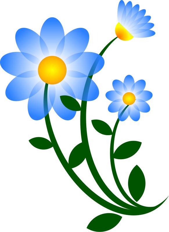 Floral blue flower border clip art free clipart images