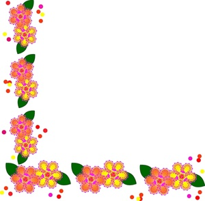 Floral clip art borders flowers free