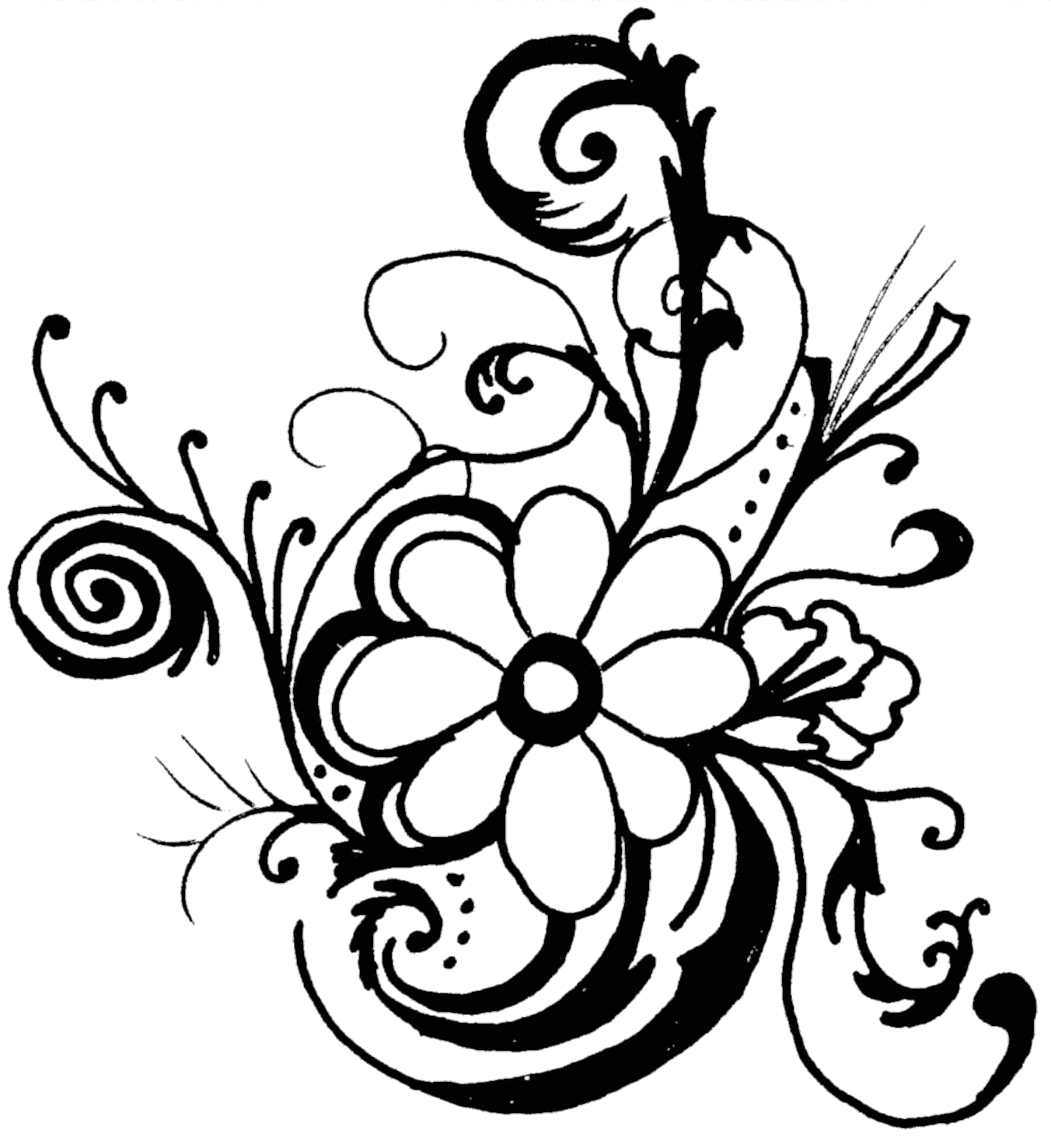 Floral flower clipart free clipart images