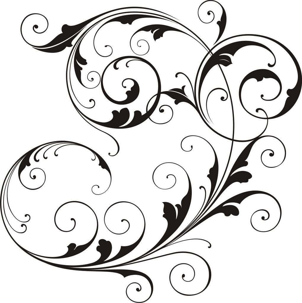 Scrollwork decorative scroll clip art free