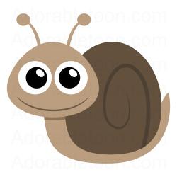 Snail clipart 6