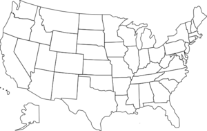 Us map united states map with states  clipart