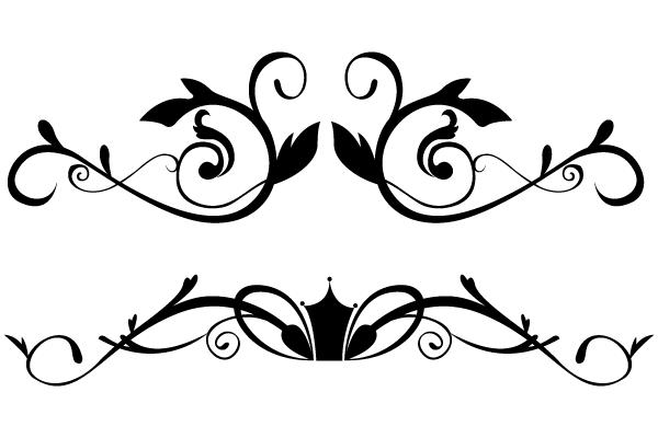 Vector floral ornamental border clip art