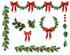 Christmas Garland Clip Art Free Dromhig Top 2 Image 28748