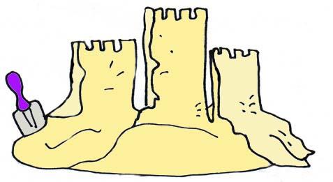 Sand castle clipart nice castles
