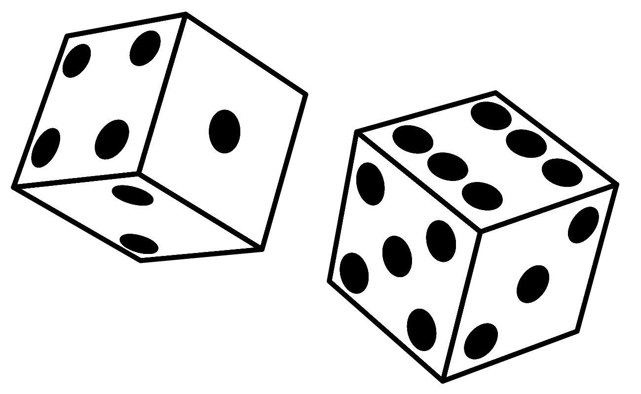1 dice clipart free clipart images