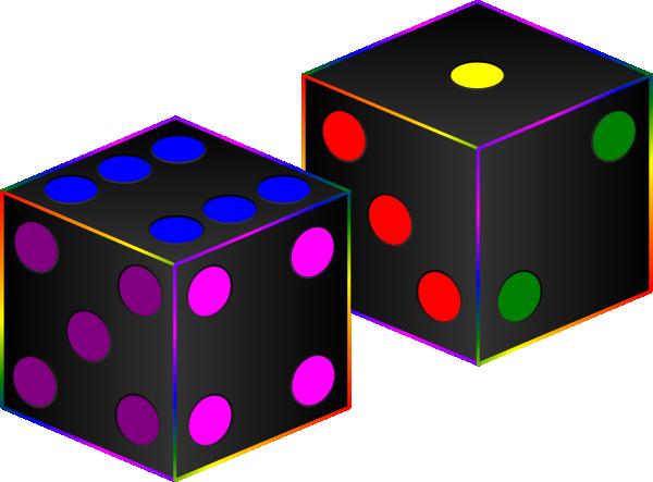 Black dice clip art at vector clip art