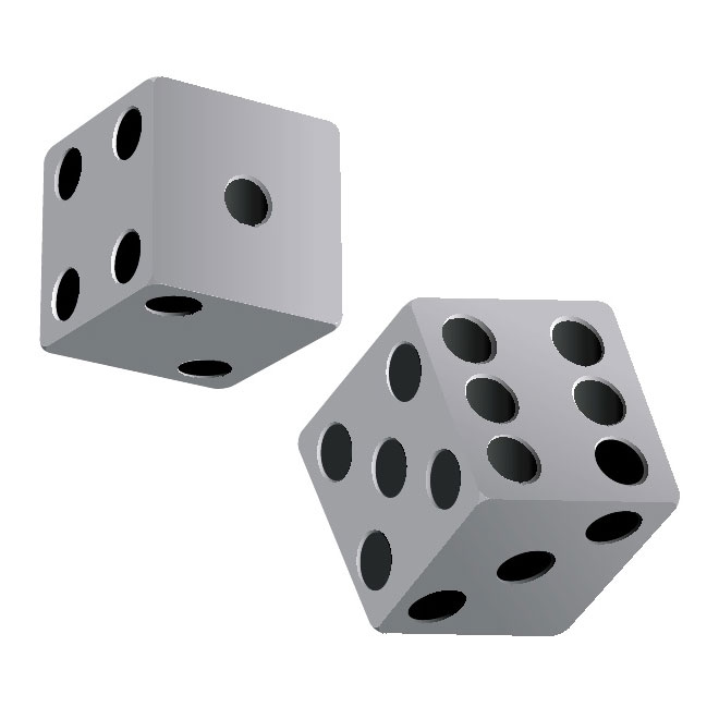 Dice clipart free vector