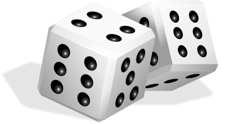 Dice free to use  clipart