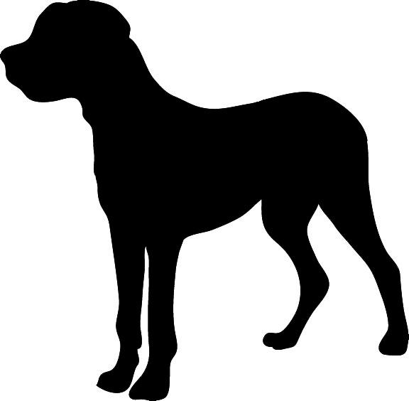 Dog silhouette clip art