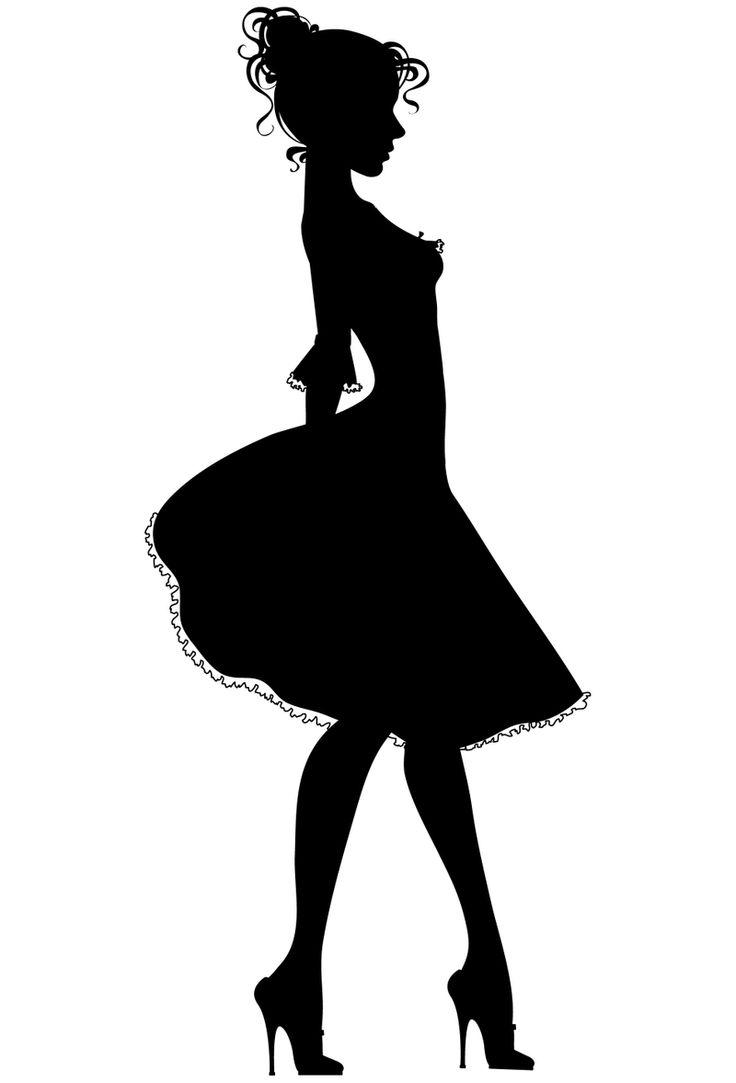 Dress Form Silhouette Clip Art Women Dress Silhouettes