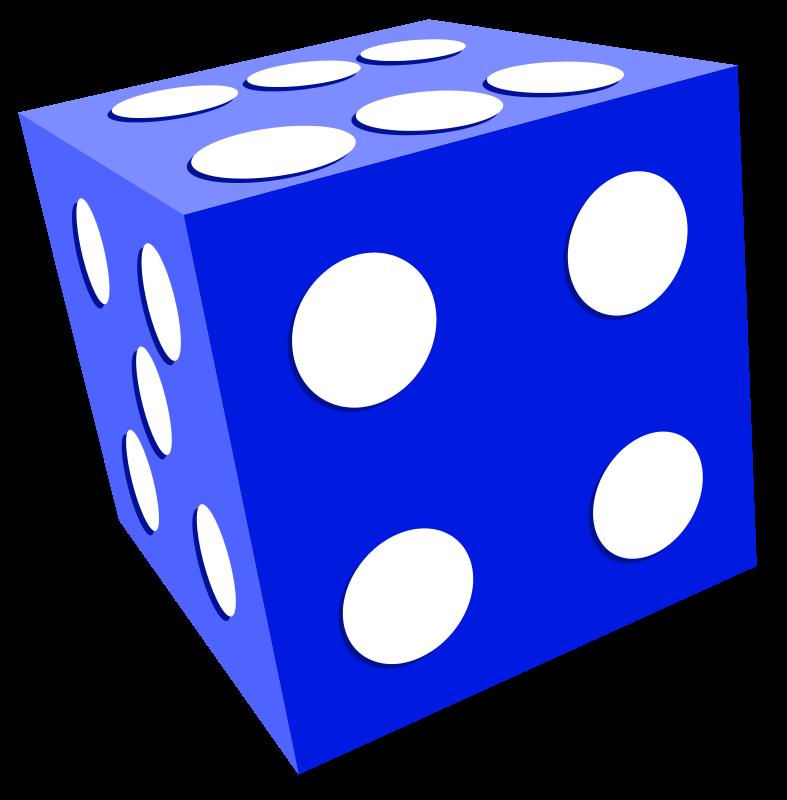 Free blue dice clip art