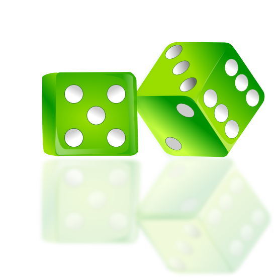 Free green dice clip art