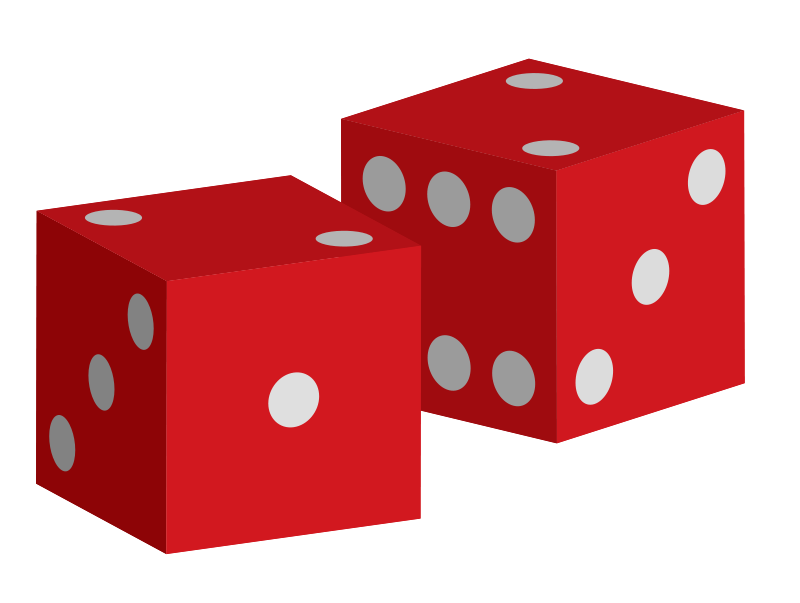 Free red dice clip art