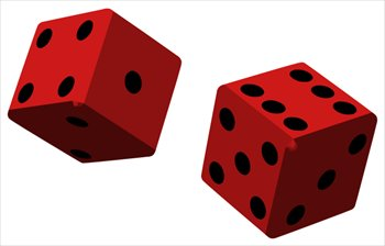 Free two red dice clipart free clipart graphics images and