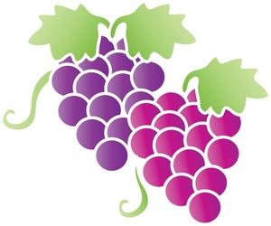 Fruit clipart image grapes