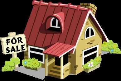 House for sale clip art 2