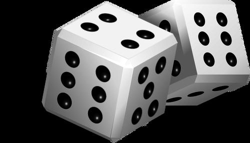 Printable dice public domain vectors clipart