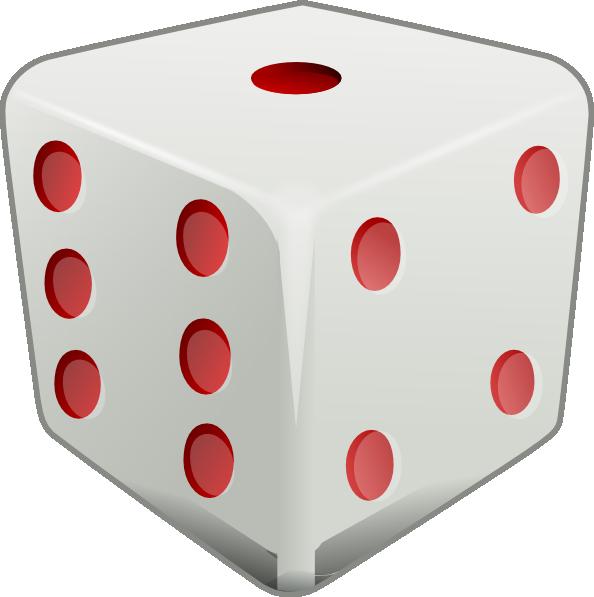 Red dice clip art at vector clip art