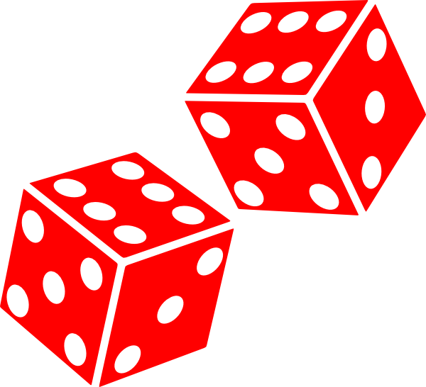 Six sided dice clip art vector clip art free