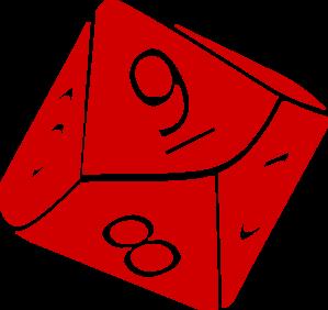 Ten sided dice clip art at vector clip art