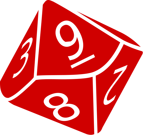 Ten sided dice clipart free clipart images