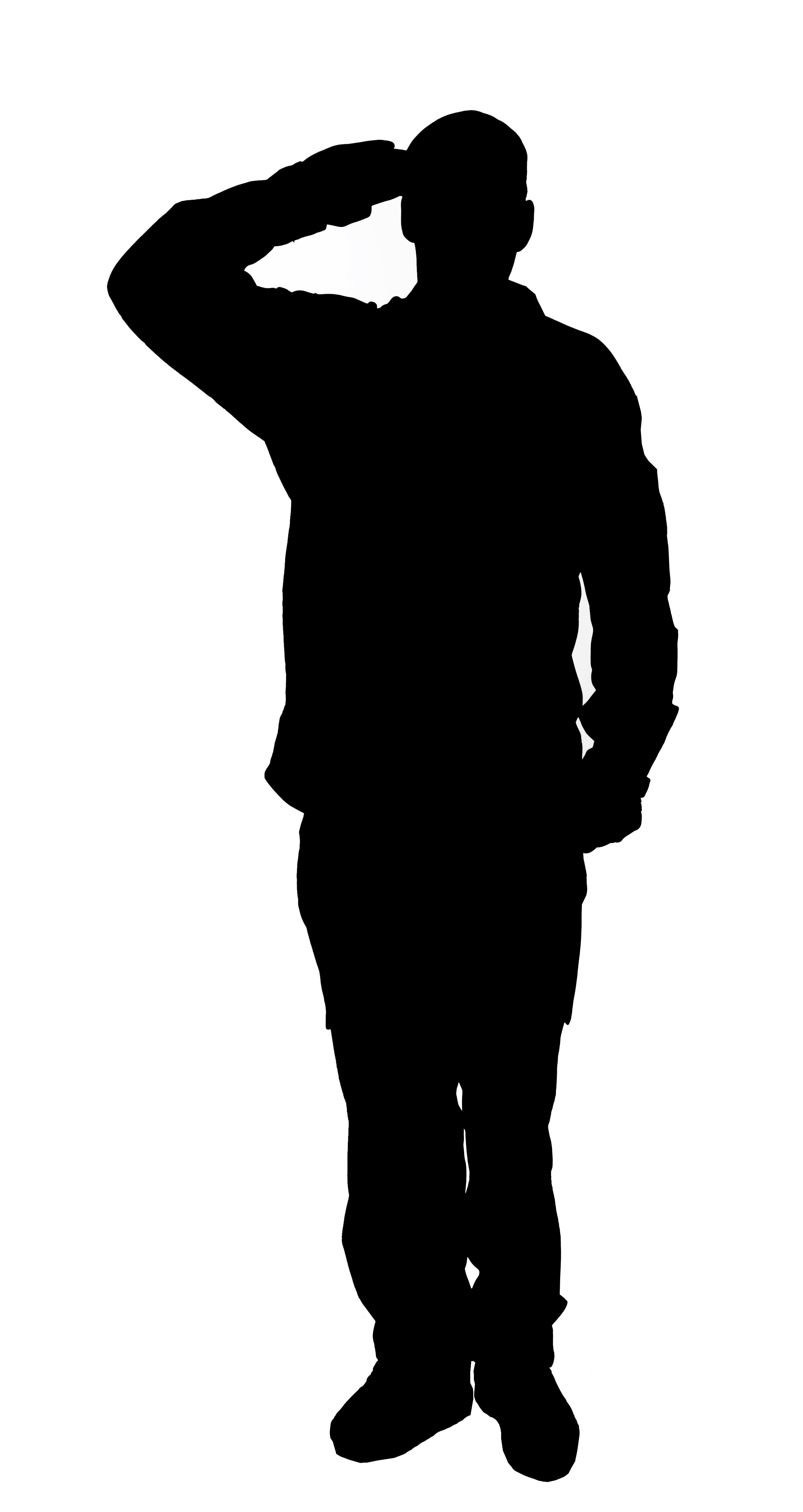 Veteran silhouette clipart