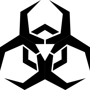 Cool biohazard symbol clipart