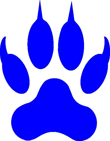 Cougar paw print clip art clipart 3