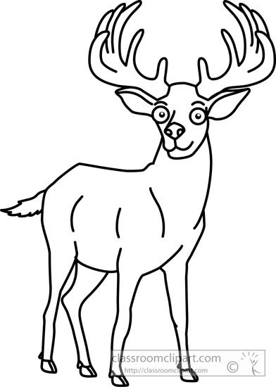Animals elk 9 outline classroom clipart