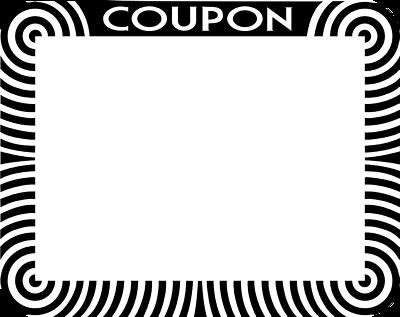 Blank coupon templates use on websites splash pages clipart image – Blank Coupon Templates